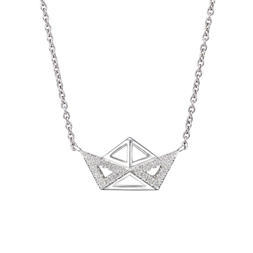 AURY Sail Boat Necklace