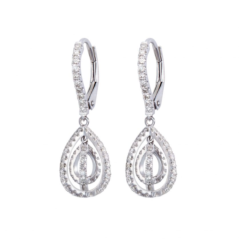 Embrace Twirl Diamond Earrings
