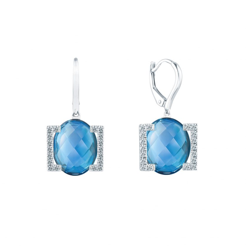 Soleluna's ASTRA Blue Topaz Earrings