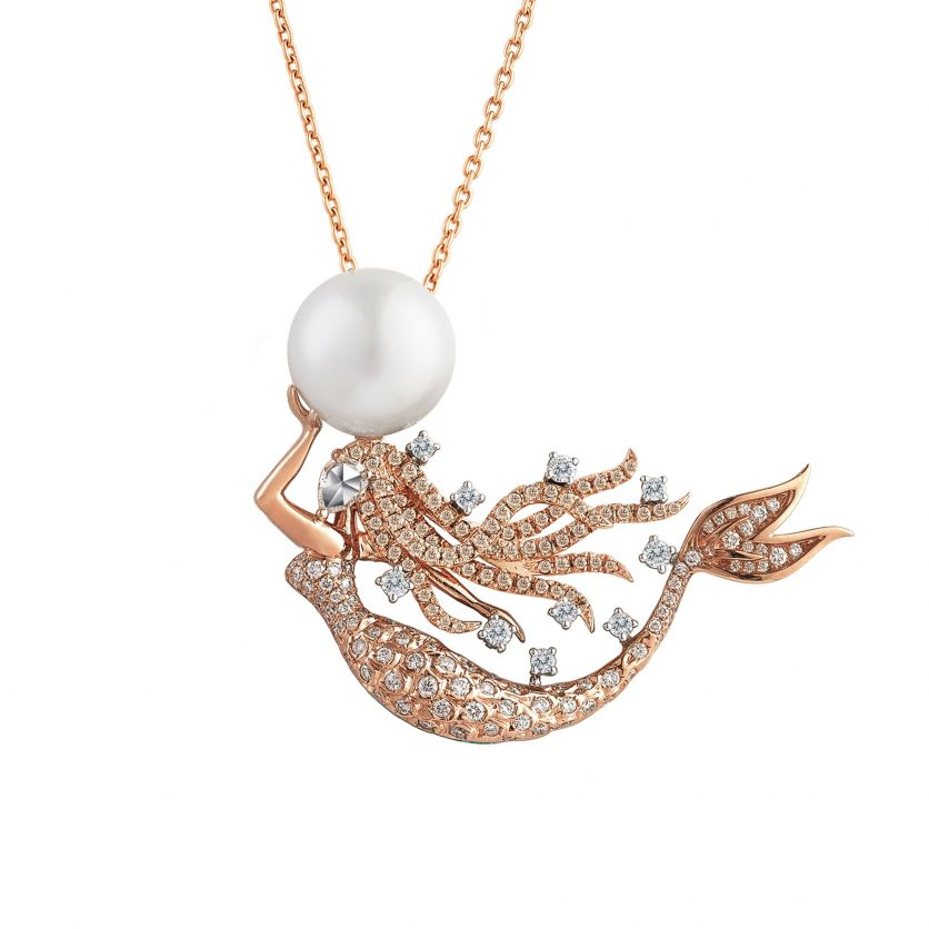 The Blushing Mermaid Pendant Necklace
