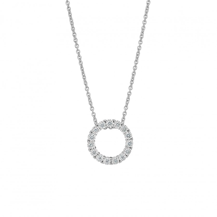 Eternity Diamond Pendant Necklace