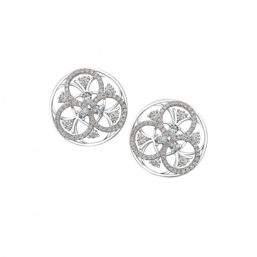 The Pinwheels Diamond Earrings