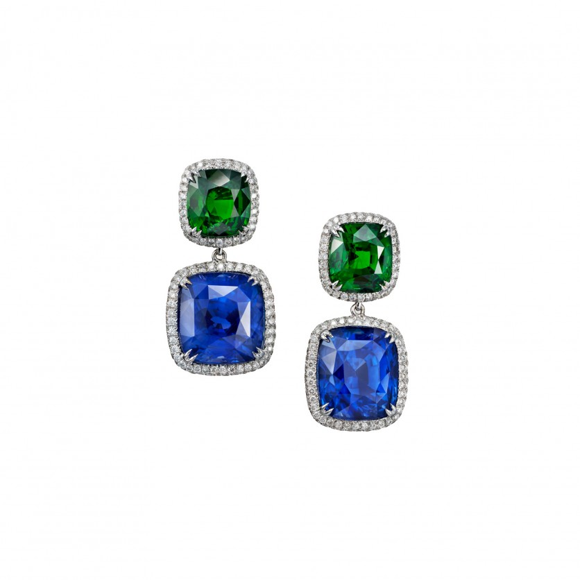Tanzanite & Tsavorite Earrings