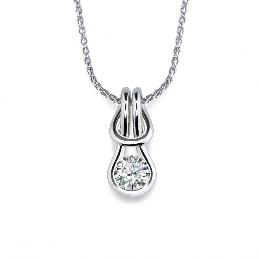 Forevermark Encordia Solitaire Diamond Pendant Necklace