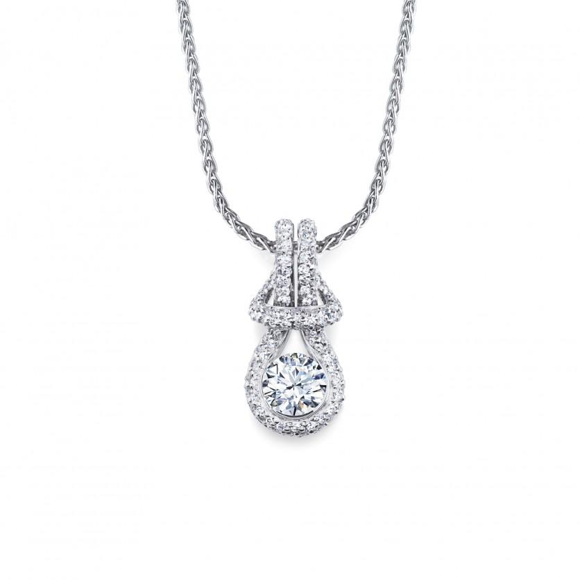 Forevermark Encordia Pave Solitaire Diamond Pendant Necklace
