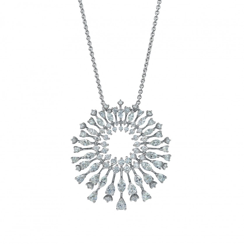 Dazzling Dandelion Diamond Necklace