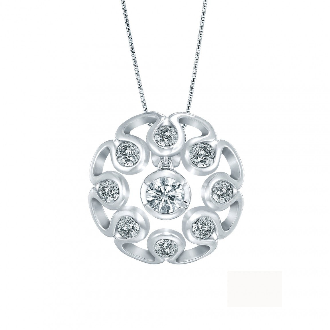 Lazare Valentine Diamond Pendant Necklace