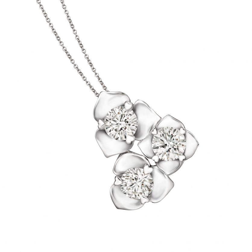Lazare Blossom Diamonds Pendant Necklace