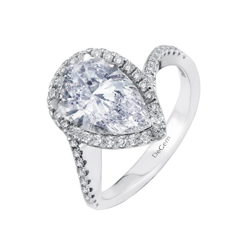 Forevermark Teardrop of Happiness Pear Diamond Ring