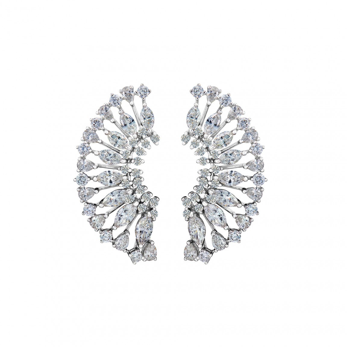 Dazzling Dandelion Diamond Earrings