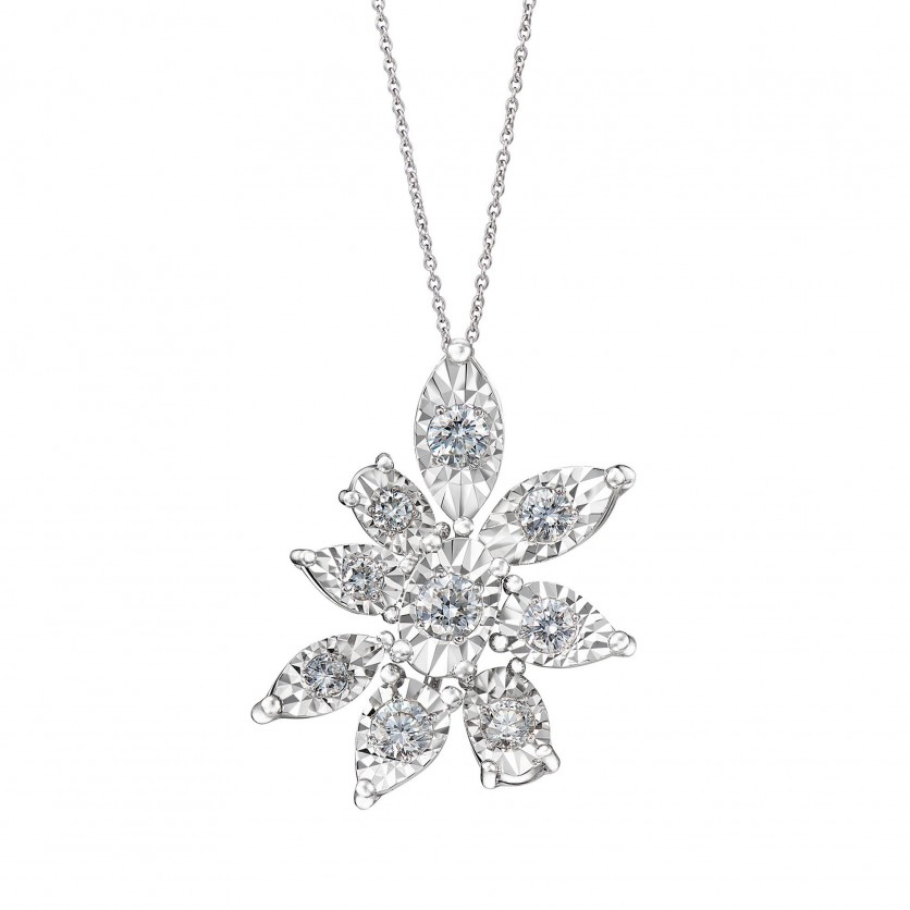 The Lotus Diamond Pendant Necklace