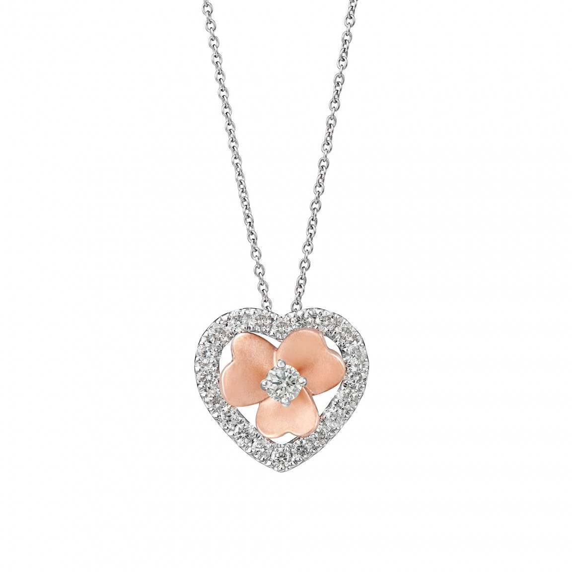 LoveStruck Diamond Pendant Necklace