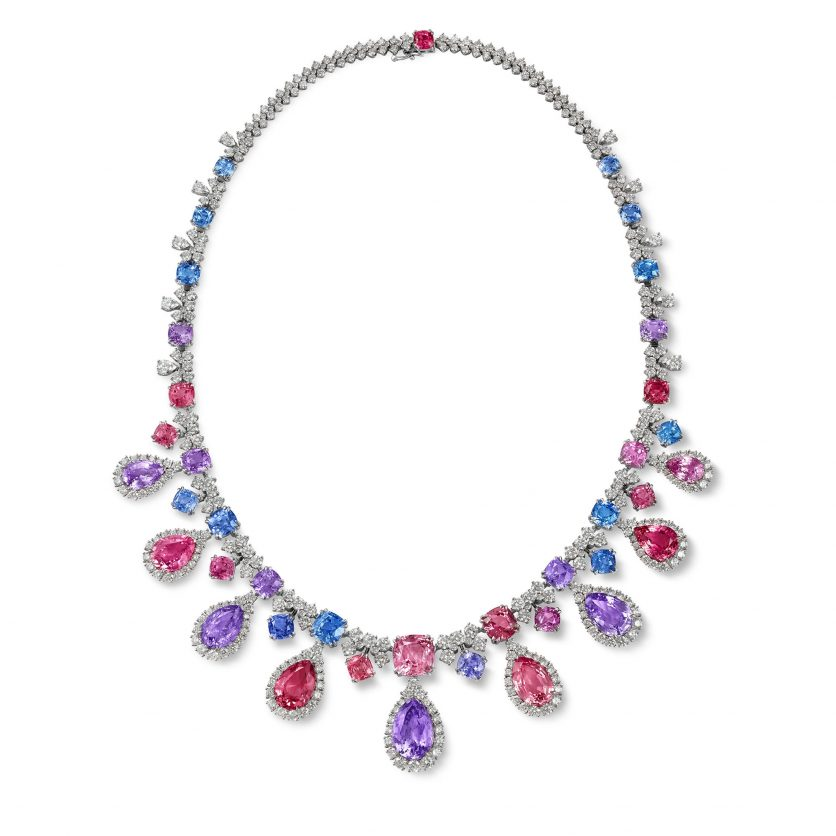 Sweet Indulgence Spinels and Diamonds Necklace