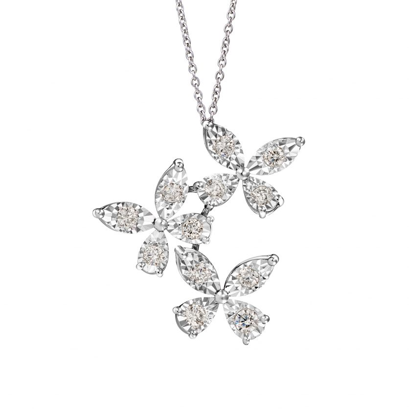 Flutter Diamond Pendant Necklace
