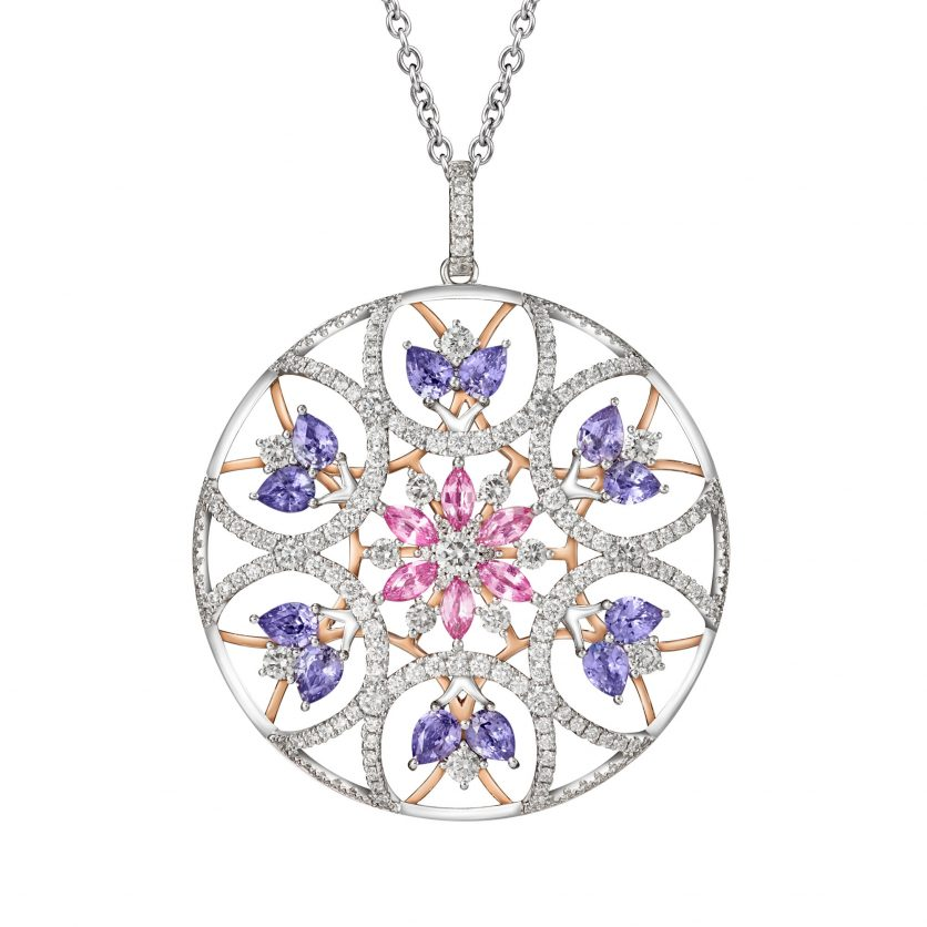 The Pinwheels Gemstones Pendant Necklace
