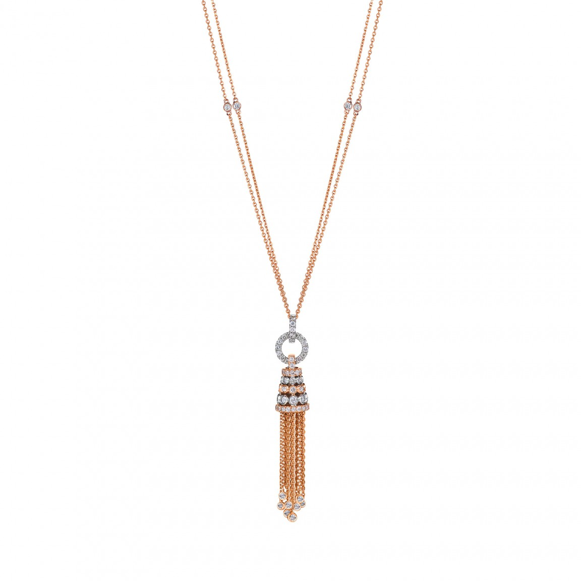 YÒU (佑) Diamond-Adorned Tassel Pendant