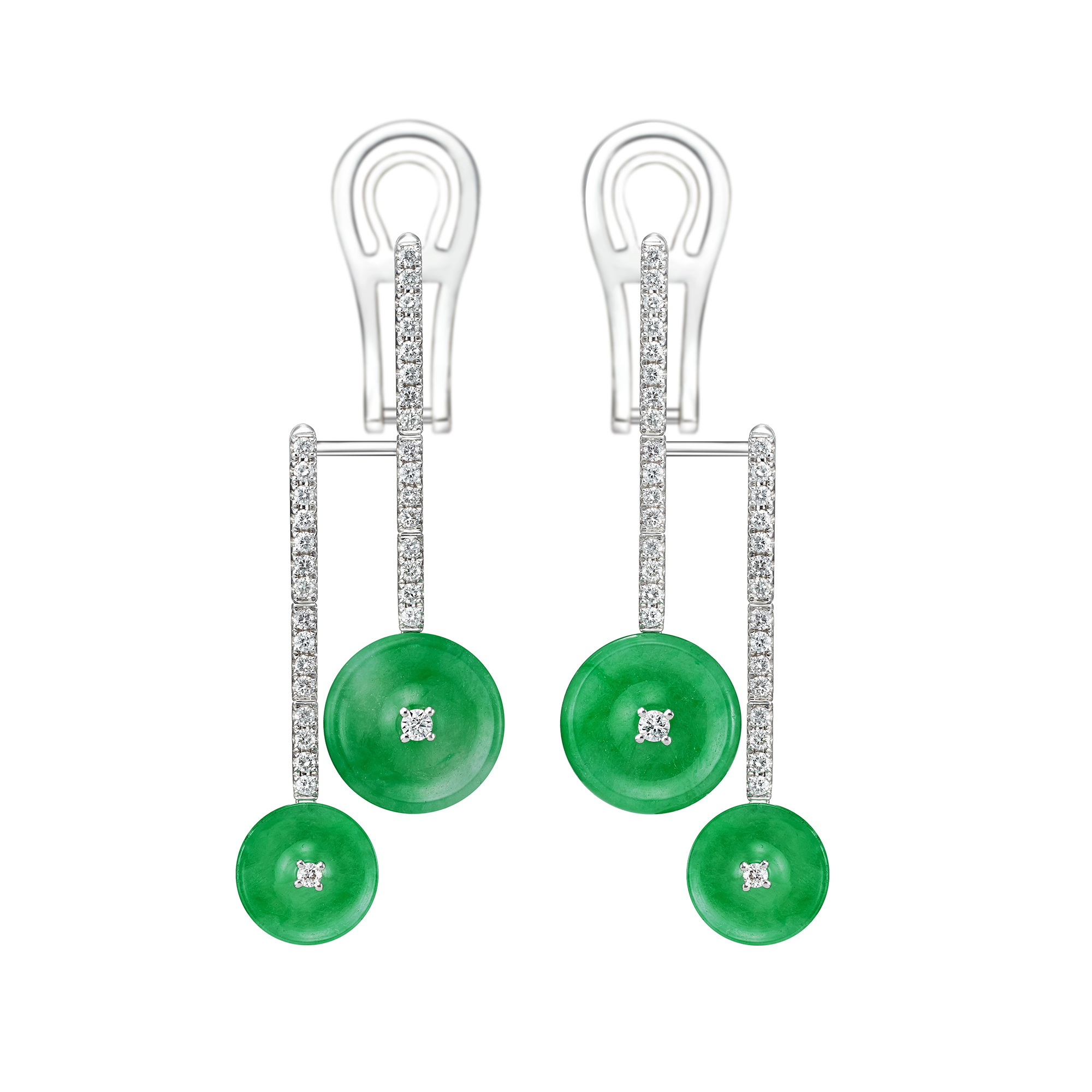 Double Circle of Happiness Earrings