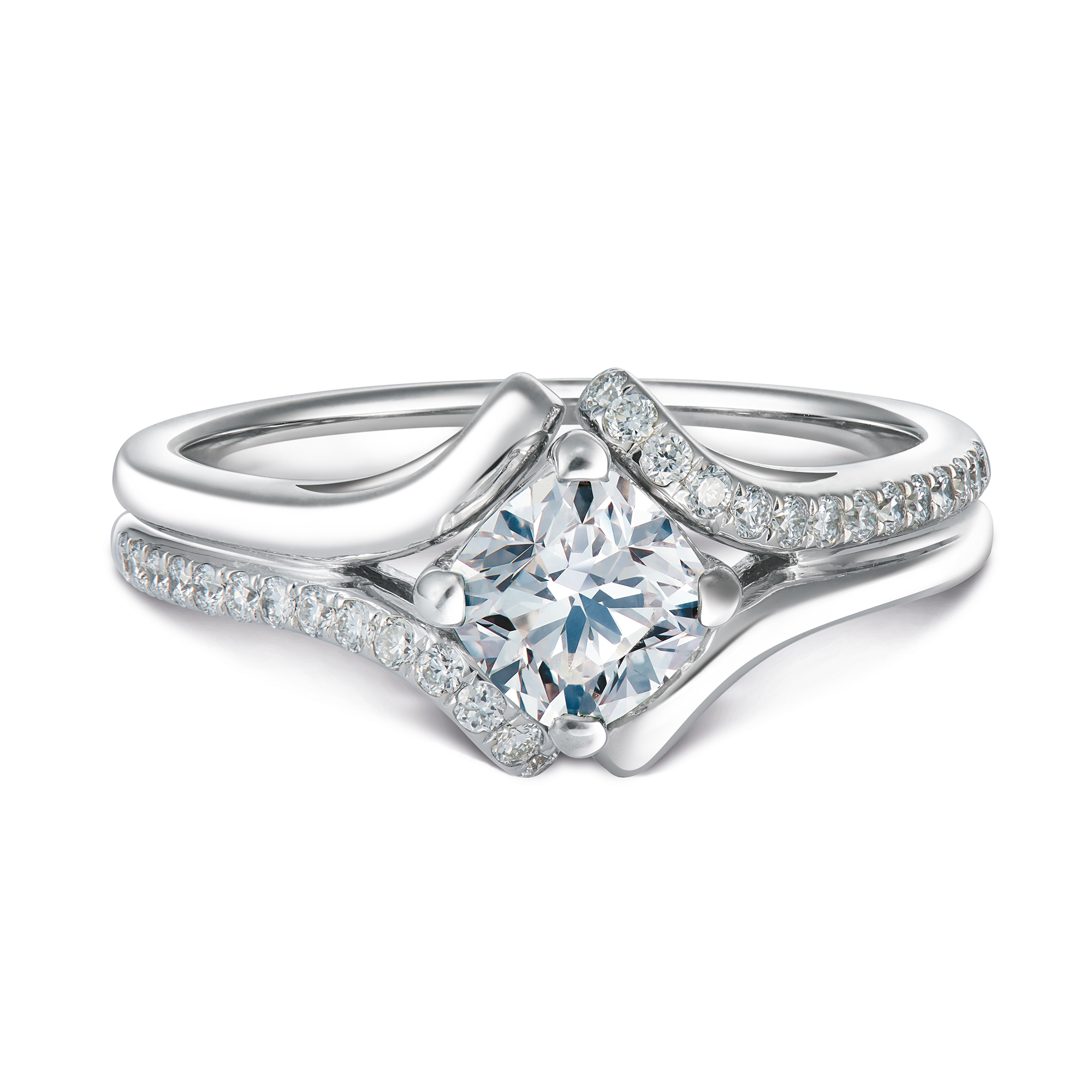 Imperiale for Forevermark Semi Pave Solitaire Diamond Ring