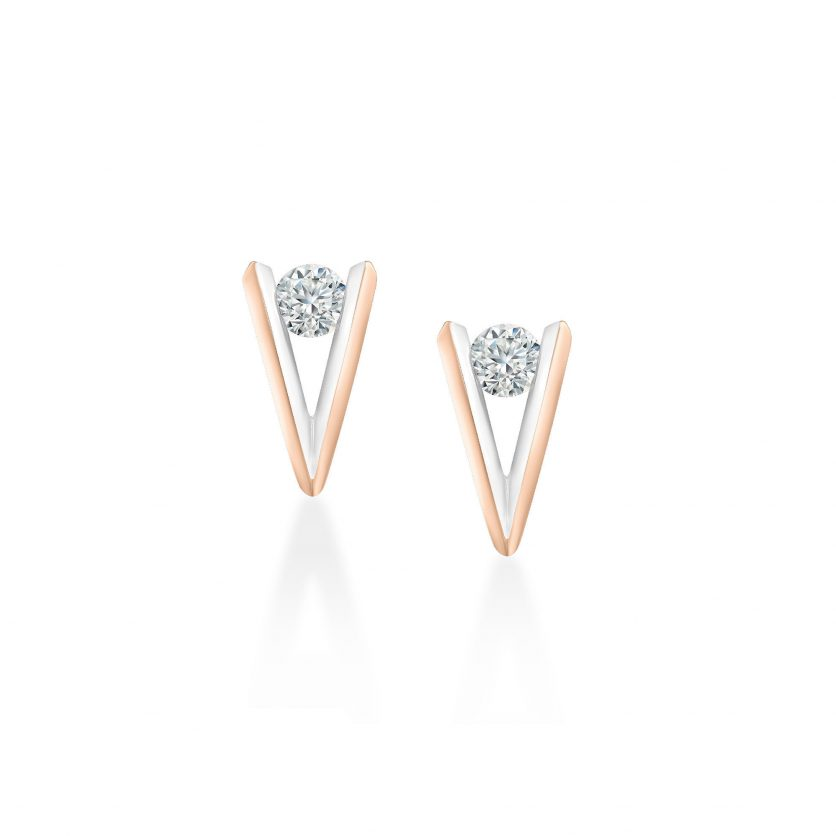 My First LAZARE® V Collection Diamond Earrings by DeGem