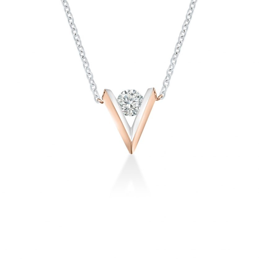 My First LAZARE® V Collection Diamond Necklace by DeGem