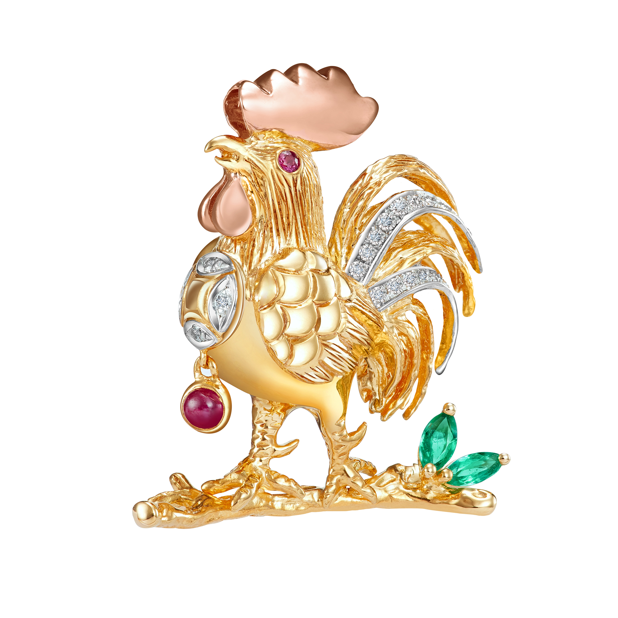 Majestic Golden Rooster Pendant