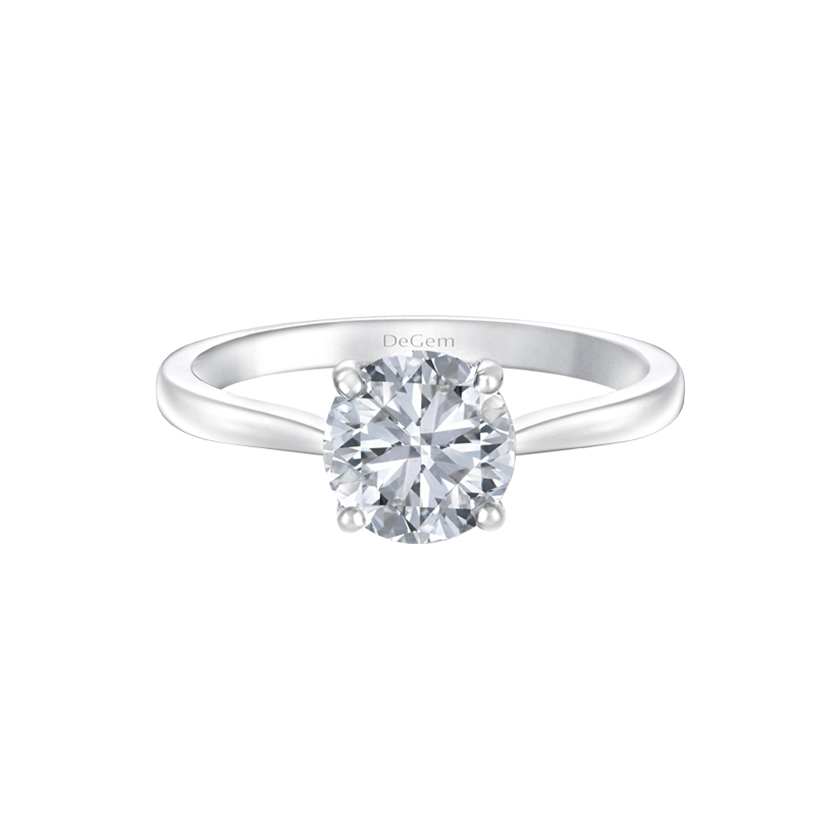 DeGem Classic Brilliant Round Solitaire Ring