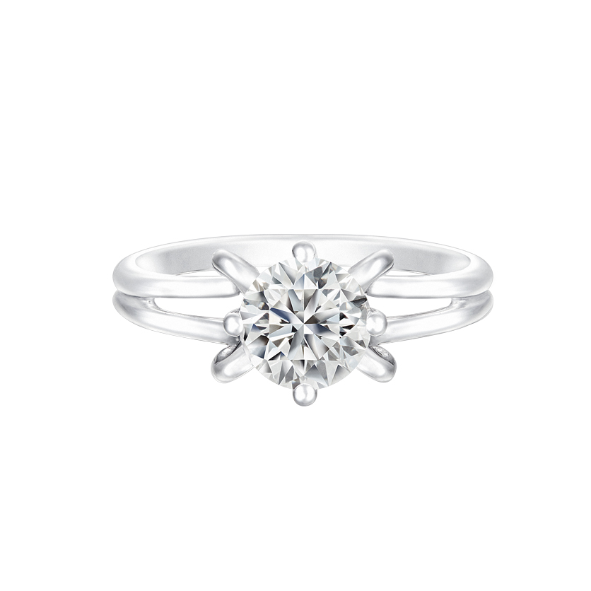 DeGem Cinderella Diamond Solitaire Ring