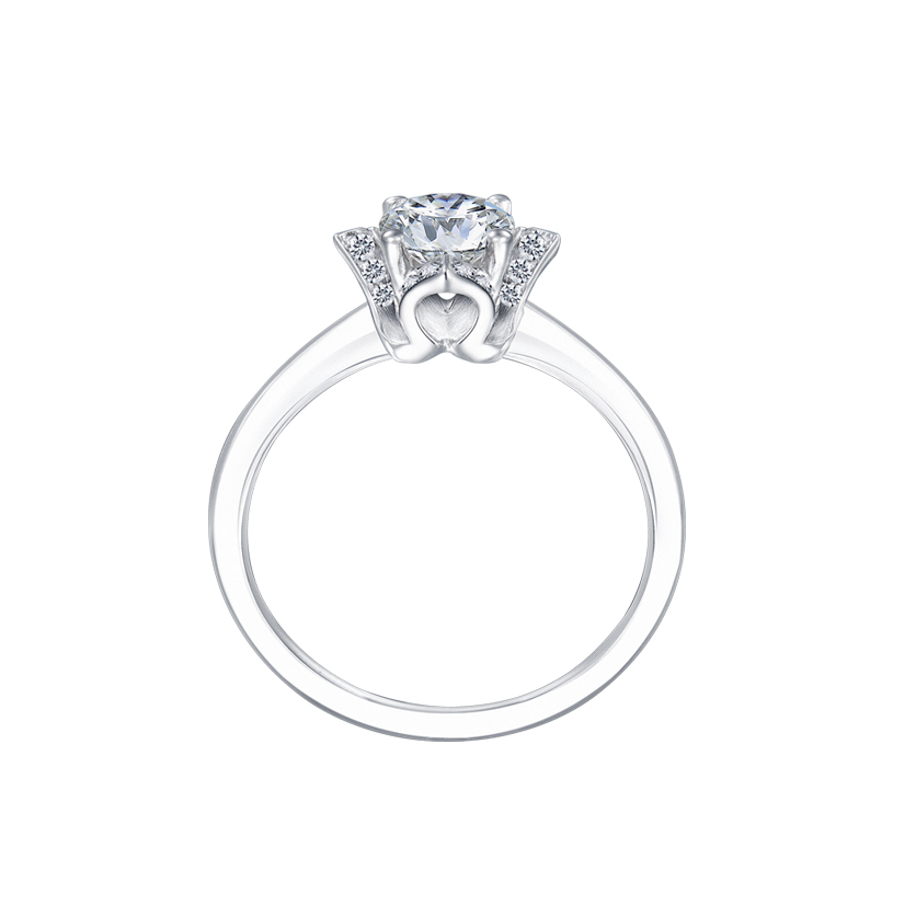 DeGem Brilliant Blossom Diamond Solitaire Ring
