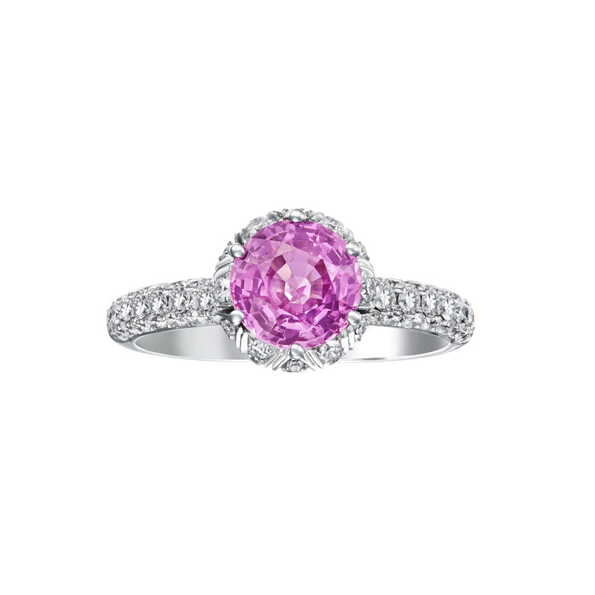 Infinity Precious Pink Sapphire Engagement Ring by DeGem