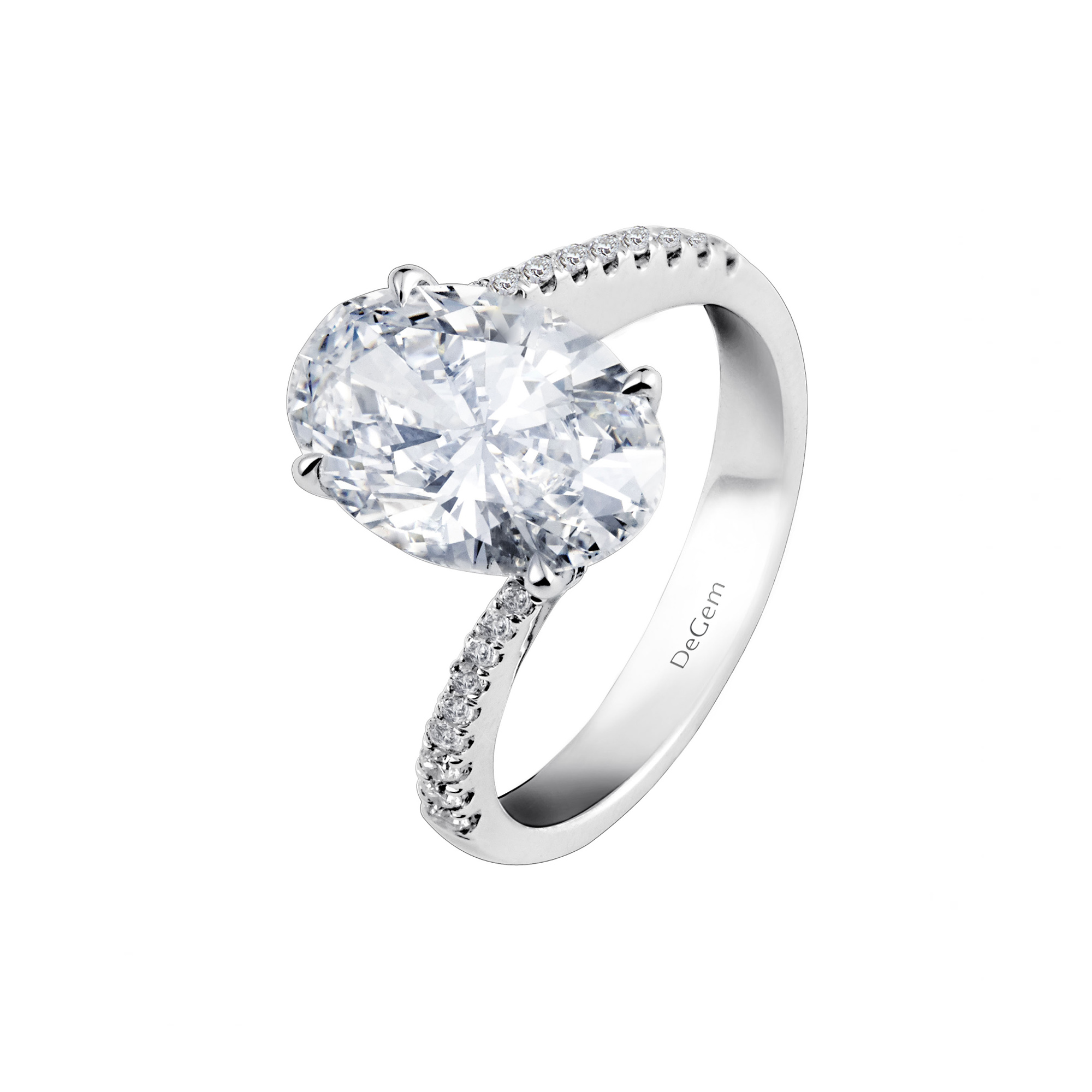 Forevermark Oval Twist Diamond Ring