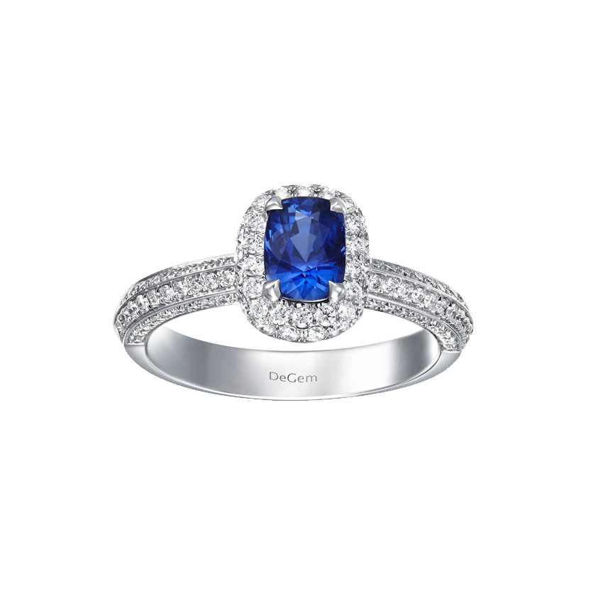 Infinity Precious Sapphire Engagement Ring by DeGem