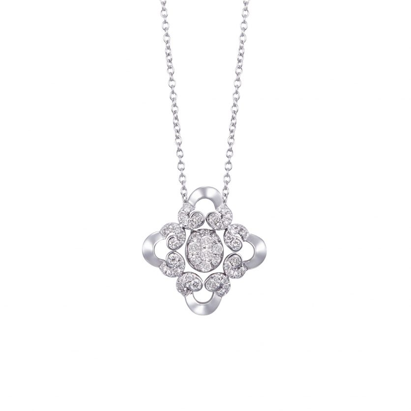 Opulent Lace Diamond Necklace