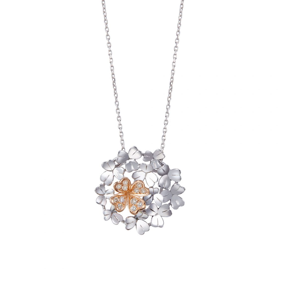 Soleluna AGLAIA Lucky Clover Diamond Necklace