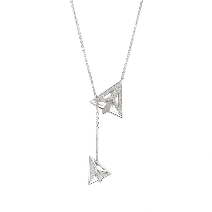 AURY Paper Planes Two-Way Necklace