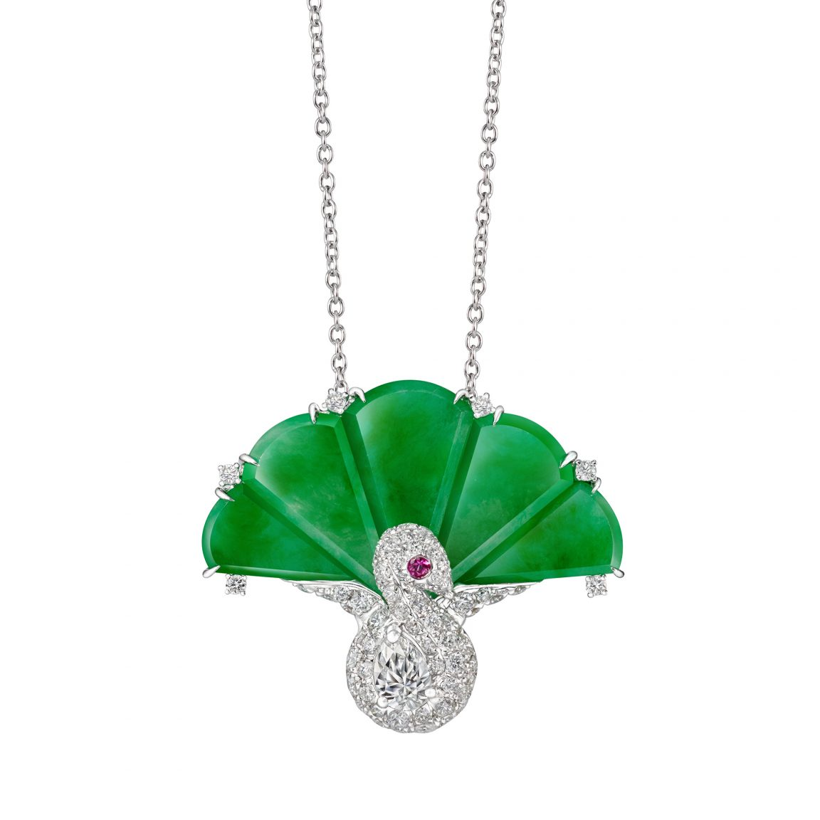 Luscious Fan Jade Necklace