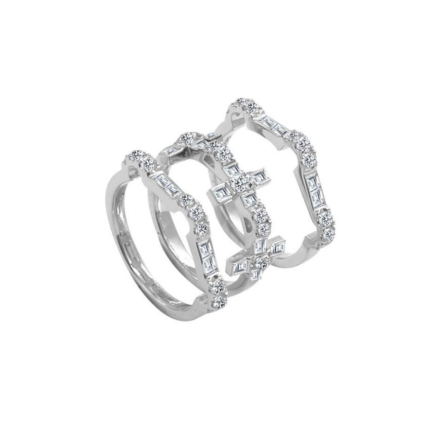 DeGem Vero Amore Stackable Diamond Rings