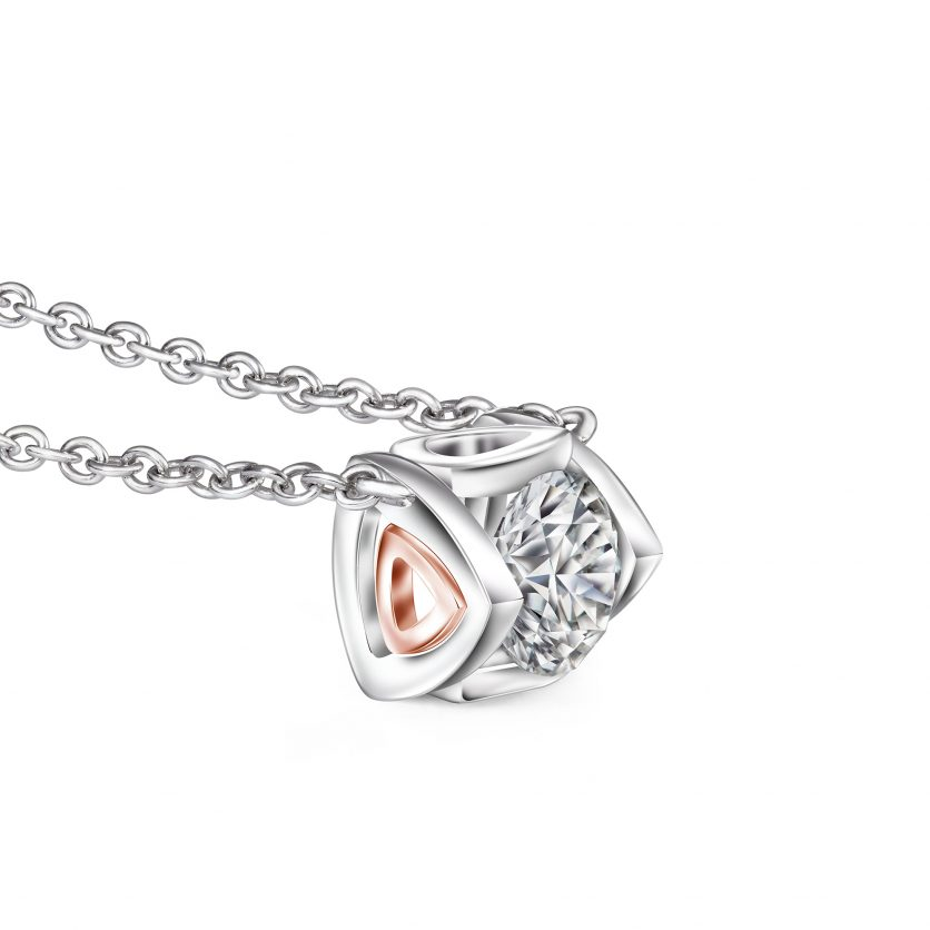Lazare Trigon Necklace By DeGem
