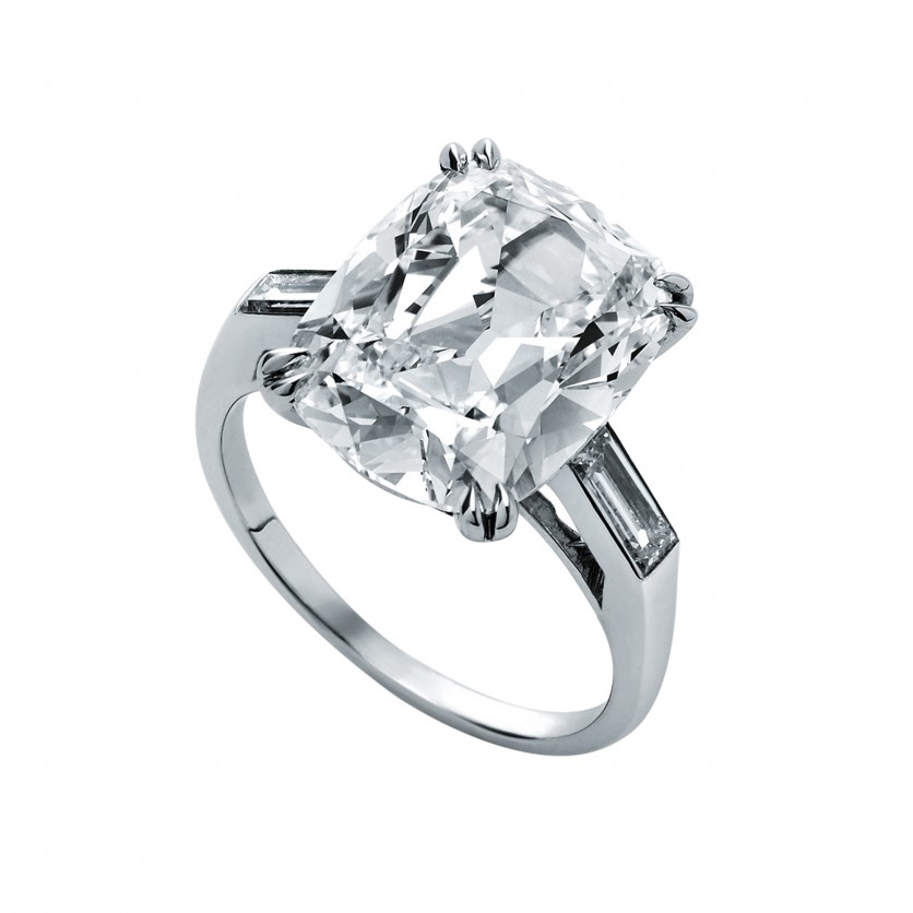 Fancy Cushion Shape Diamond Ring