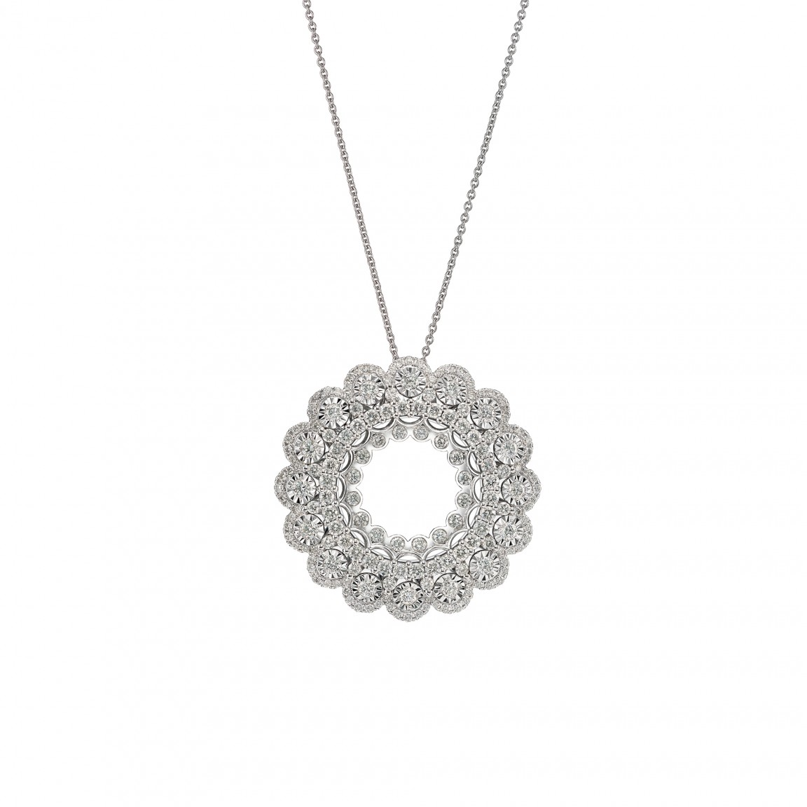 Camellia Diamond Necklace