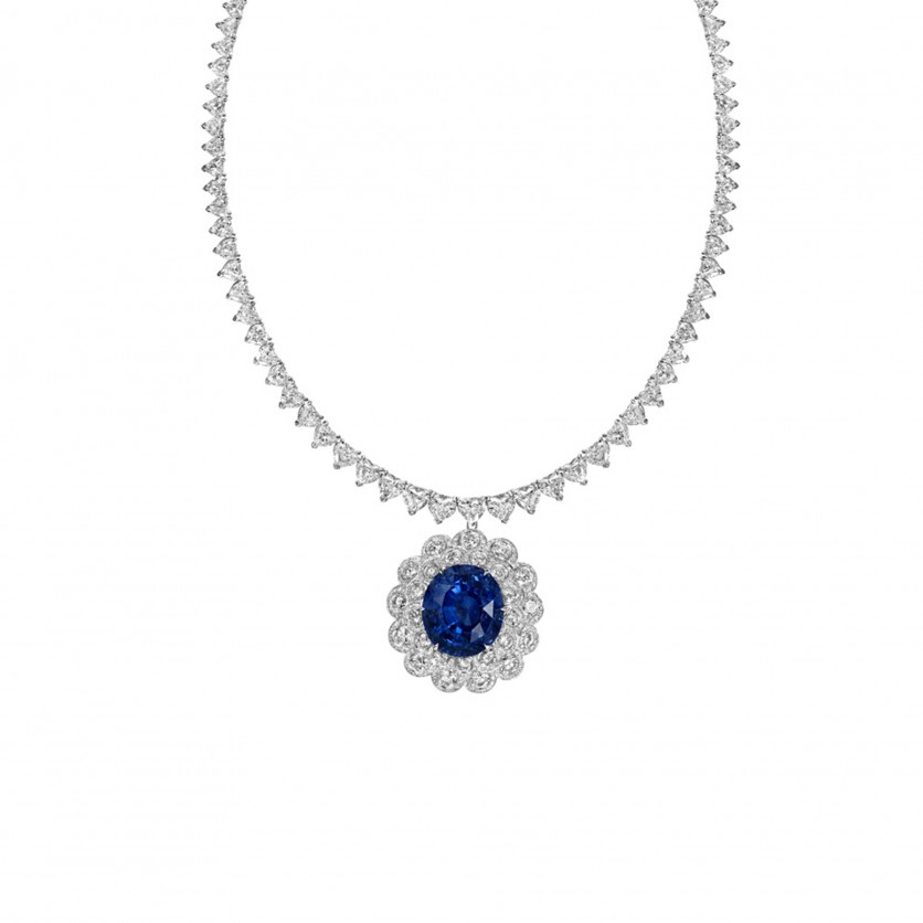 Unheated Sapphire Pendant Necklace