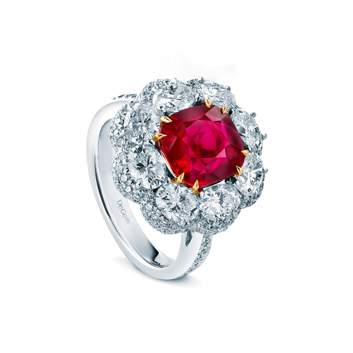 Unheated Pigeon Blood Ruby Ring