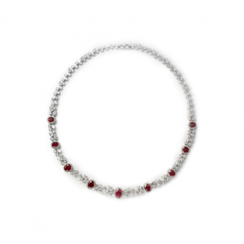Pigeon Blood Ruby Necklace