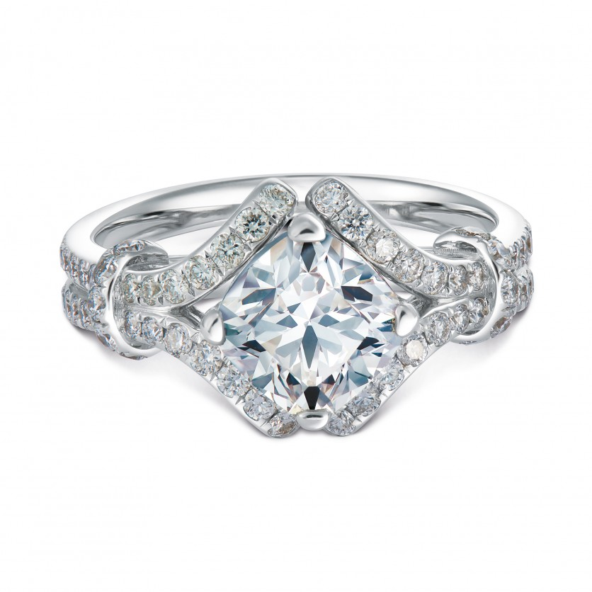 d932826f7 Imperiale for Forevermark Pave Solitaire Diamond Ring