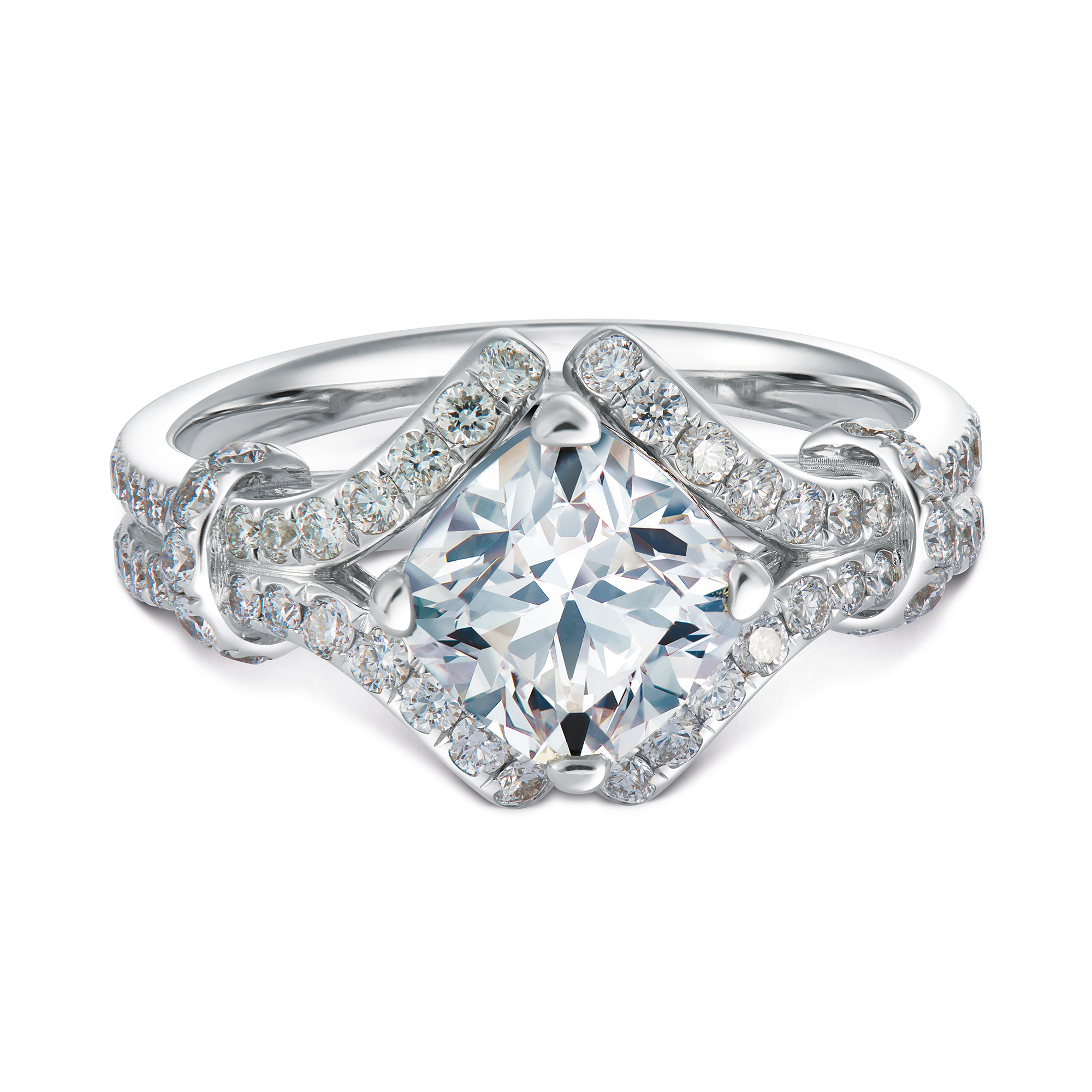 Imperiale for Forevermark Pave Solitaire Diamond Ring