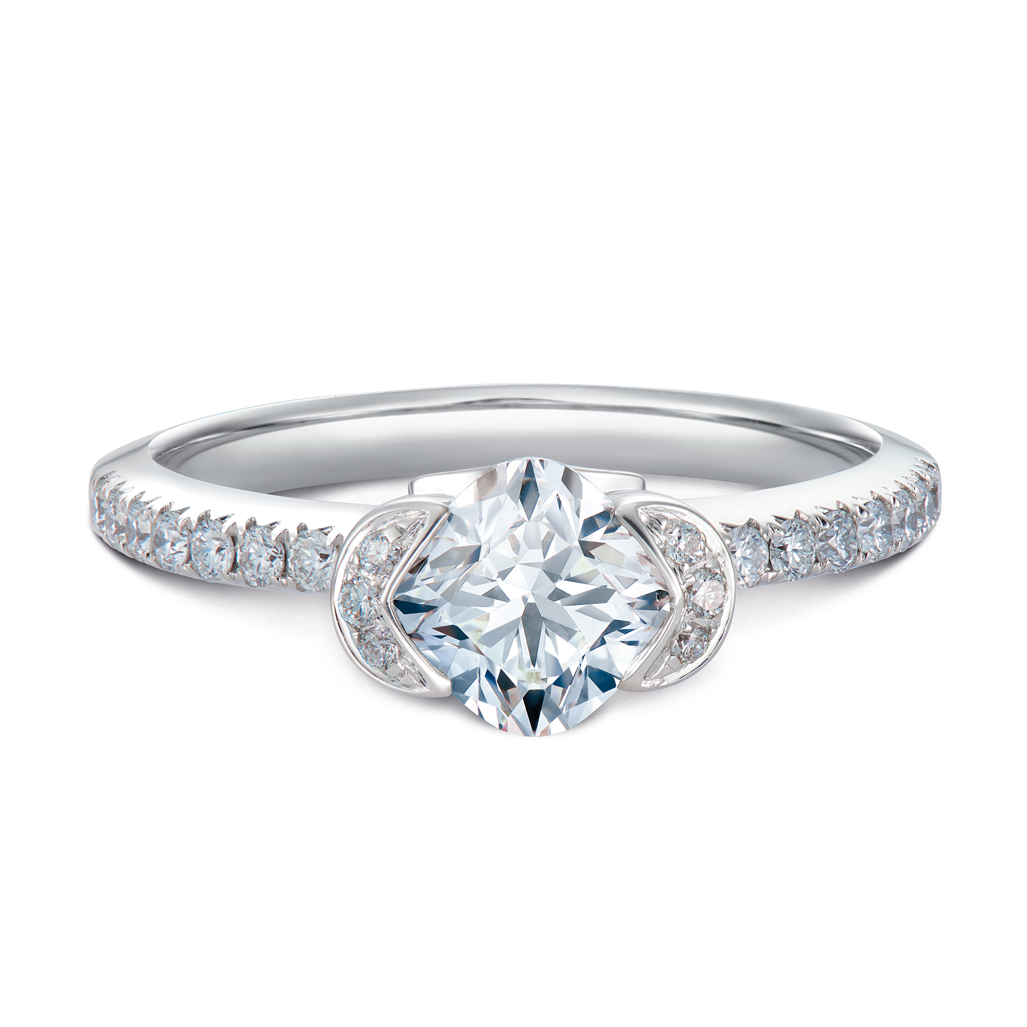 31f1a3970 Imperiale for Forevermark Pave Solitaire Diamond Ring - DeGem ...