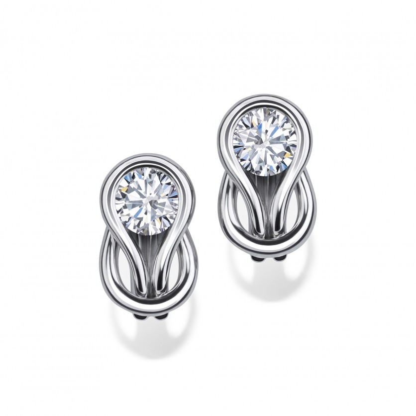 Forevermark Encordia Pave Solitaire Diamond Earrings