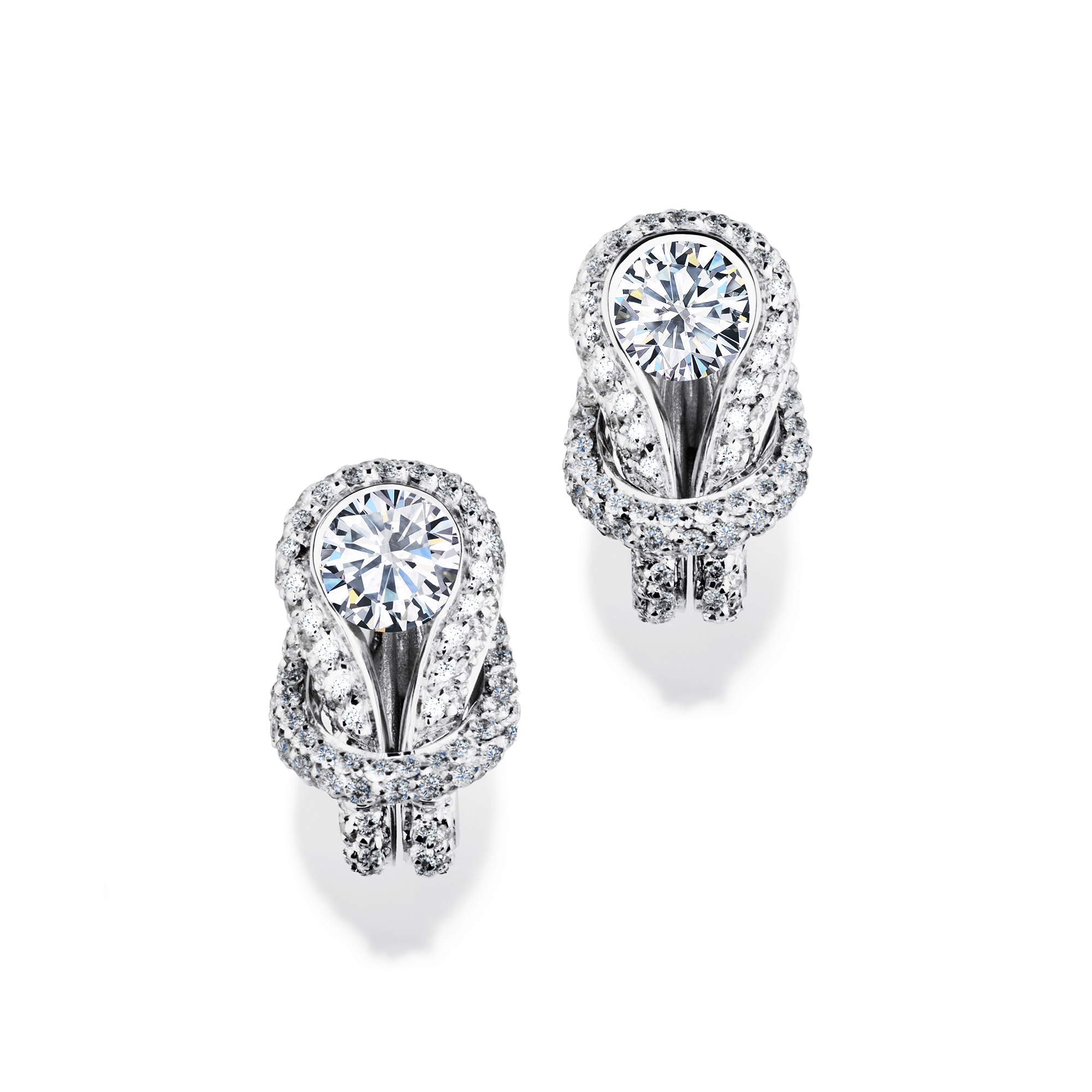 diamond earrings diamonds drop dead coronet solitaire