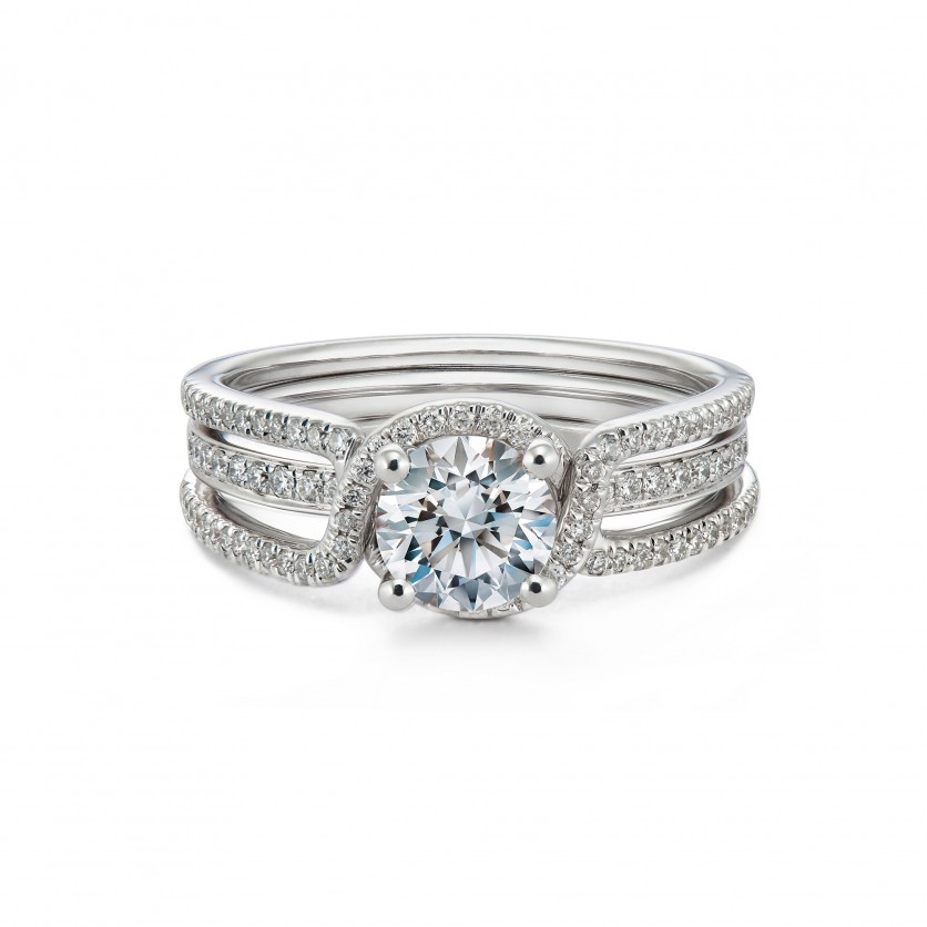 Revel For Forevermark Pave Solitaire Diamond Ring
