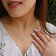 Forevermark Endlea Necklace with Blue Enamel