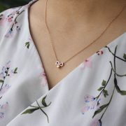 Forevermark Endlea Necklace with Pink Enamel